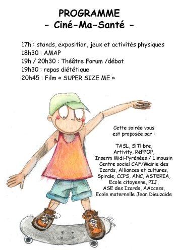 Flyer Cinéma Santé (Verso)